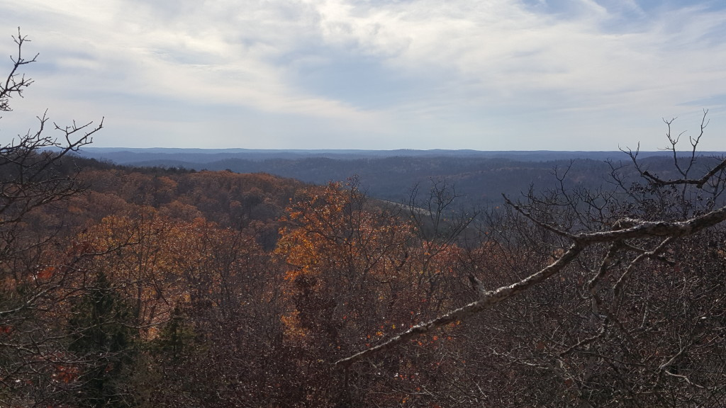 Southern view on the hike to Bell Mountain, Ozark Trail, Mark Twain National Forest, Missouri