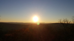 Sunrise on Bell Mountain, Backpacking Bell Mountain Wilderness, Mark Twain National Forest, Missouri