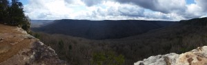 Panoramic photo from Great Stone Door, Savage Gulf State Natural Area, South Cumberland State Park, Tennessee